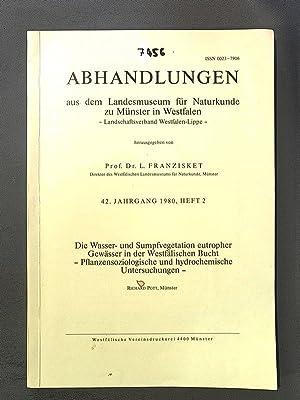 Abhandlungen aus dem Landesrnuseum für Naturkunde zu: Knut, Faegri: