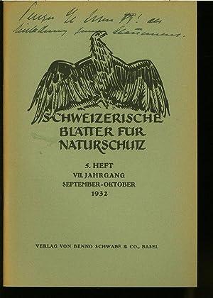 Der Vogelmord am Untersee, in: SCHWEIZERISCHE BLÄTTER FÜR NATURSCHUTZ, Heft 5/1932.