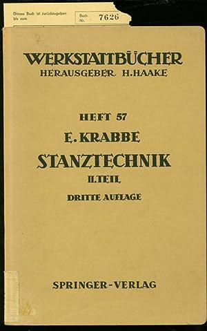 STANZTECHNIK. BAND 2. WERKSTATTBÜCHER, HEFT 57.: KRABBE, E.: