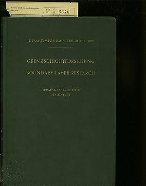 GRENZSCHICHTFORSCHUNG. SYMPOSIUM FREIBURG;BR. 1957: Gortler, H.: