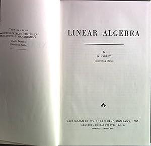 Linear Algebra.: Hadley, G.: