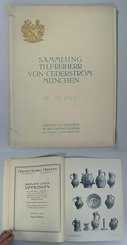 Sammlung Th. Freiherr von Cederström, München. Auktion in München in der Galerie ...
