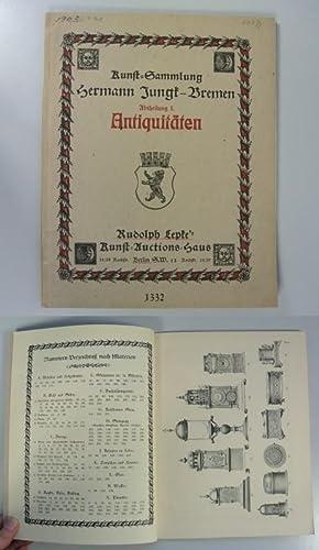 Antiquitäten-Sammlung H. Jungk, Bremen, Abtheilung I.: Kunstgewerbliche Arbeiten des ...
