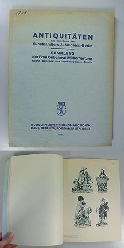 Antiquitäten aus dem Besitz des Kunsthändlers Albert Salomon, Berlin. - Sammlung der Frau...
