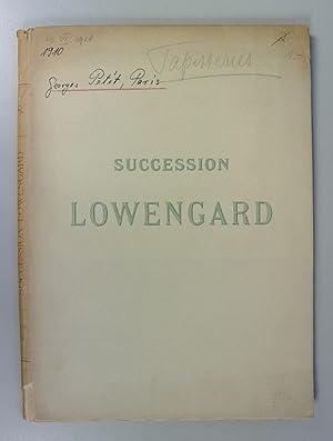 SUCCESSION LOWENGARD. (Text Volume). Catalogue des tapisseries des Flandres des VXe et XVIe siecles...