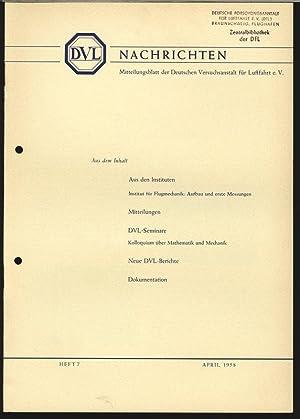 Institut für Flugmechanik - Aufbau und erste Messungen, in: DVL-NACHRICHTEN, Heft 7, Apr. 1958...