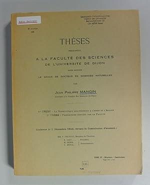 Theses presentees a la Faculte des Sciences de l' Universite de Dijon - 1re THESE: Le ...