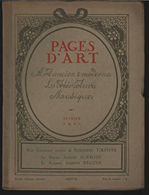 Le peintre Albert Schmidt (12 illustrations et 2 vignettes typographiques), in: PAGES D'ART, ...