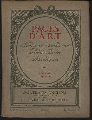 Symbolisme (3 illustrations), in: PAGES D'ART, Septembre 1921. Revue mensuelle suisse ...