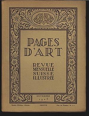 Les «Quatre Saisons» de Carl Angst (4 illustrations), in: PAGES D'ART, Novembre ...