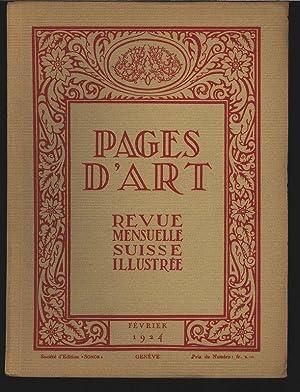 Jean Hellé, peintre (8 illustrations), in: PAGES D'ART, Fevrier 1924. Revue mensuelle ...