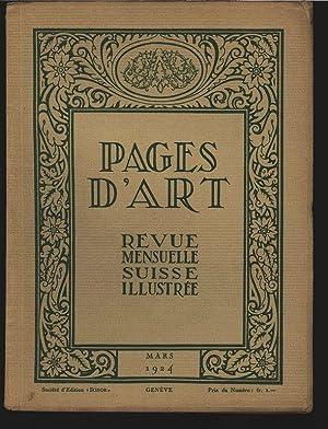 Max Kessler, peintre (4 illustrations), in: PAGES D'ART, Mars 1924. Revue mensuelle suisse ...