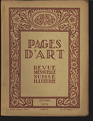 Sabon-Laurent (16 illustrations), in: PAGES D'ART, Octobre 1924. Revue mensuelle suisse ...