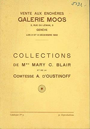 Tableaux, aquarelles, dessins et gravures, objets d: Cosandier, Ch. D.: