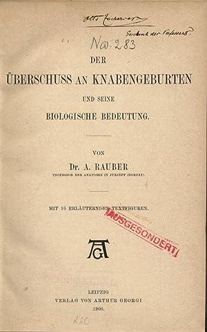 DER ÜBERSCHUSS AN KNABENGEBURTEN UND SEINE BIOLOGISCHE BEDEUTUNG.: RAUBER, A.: