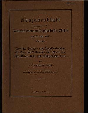 Tafel der Sonnen- und Mondfinsternisse, der Neu- und Vollmonde von 1265 v. Chr. bis 2345 n. Chr., ...