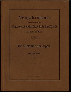 Die Gipfelflur der Alpen, in: NEUJAHRSBLATT, Nr. 129. Naturforschenden Gesellschaft in Zürich....