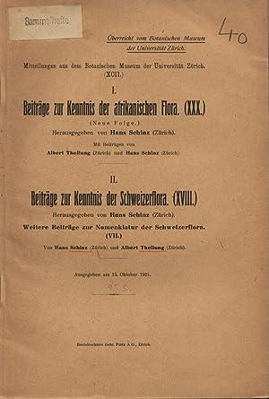 I. Beiträge zur Kenntnis der afrikanischen Flora. (XXX.); II. Beiträge zur Kenntnis der ...