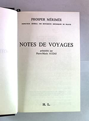 Notes de voyages.: Auzas, Pierre-Marie: