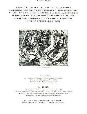 Katalog Nr. 208. Schweizer veduten, landkarten und