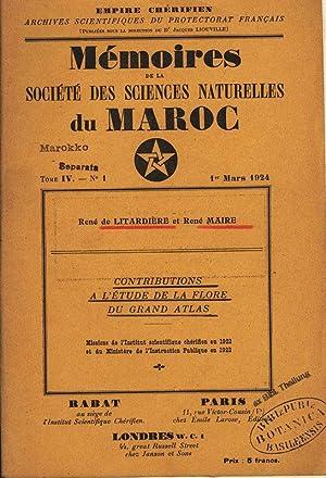 CONTRIBUTIONS A L'ÉTUDE DE LA FLORE DU: Litardiere, R. de