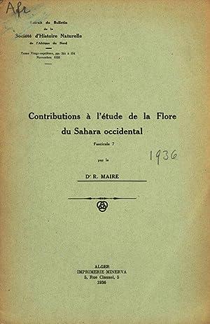 Contributions à l'étude de la Flore du: Maire, Rene: