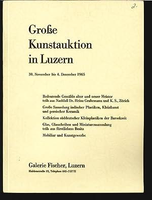 Galerie Fischer, Luzern. Z.B. Große Sammlung indischer Plastiken, Kleinkunst und persischer ...