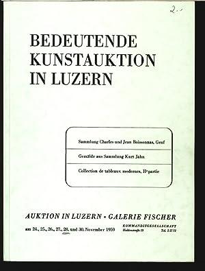 Galerie Fischer, Luzern. Z.B. Sammlung Charles und Jean Boissonnas, Genf 24. bis 30. Nov. 1959. ...