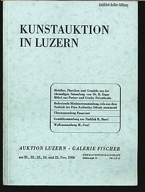 Galerie Fischer, Luzern. Z.B. Uhrensammlung aus Nachlaß B., Basel. 21. bis 25. Nov. 1950. ...