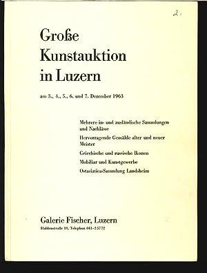 Galerie Fischer, Luzern. Z.B. Mehrere in- und ausländische Sammlungen und Nachlässe 3. ...