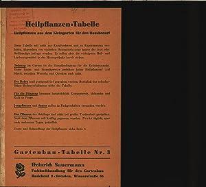 Heilpflanzen-Tabelle. Heilpflanzen a. d. Kleingarten f. d. Hausbedarf. Gartenbau-Tabelle. 3.