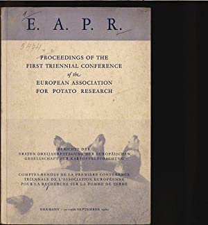 Proceedings of the first triennial conference of the European Association for Potato Research. ...