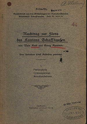 Nachtrag zur Flora des Kantons Schaffhausen. I.: Kummer, Georg und