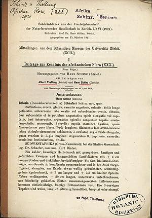 Beiträge zur Kenntnis der afrikanischen Flora (Noue: Thellung, Albert und
