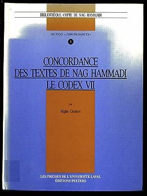 Concordance des textes de Nag Hammadi. Le Codex VII. Bibliotheque copte de Nag Hammadi. Section ...