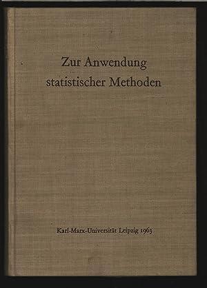 Zur anwendung statistischer methoden, Festschrift zum 75. Geburtstag.: Burkhardt, Felix: