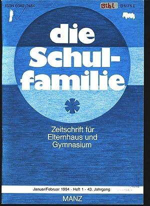 Jugendokkultismus, in: DIE SCHULFAMILIE, 1/1994. Zeitschrift für Elternhaus und Gymnasium...