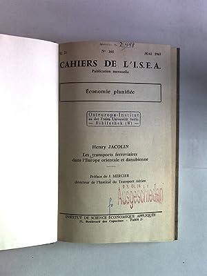 Les transports ferroviaires dans l'Europe orientale et danubienne. Cahiers de L I.S.E.A., No. ...