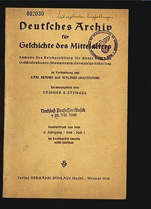 Deutsches Archiv für Geschichte des Mittelalters namens: Stengel, Edmund E.