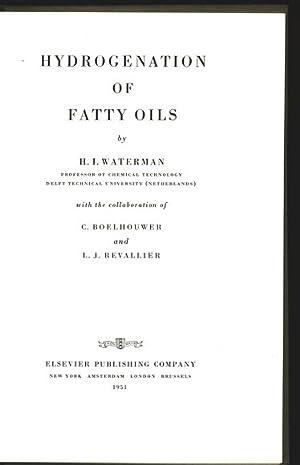 Hydrogenation of fatty oils.: Watermann, H. I., C. [Collab.] Boelhouwer and L. J. [Collab.] ...