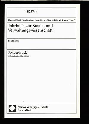 Jahrbuch zur Staats- und Verwaltungswissenschaft, Band 5/1991,