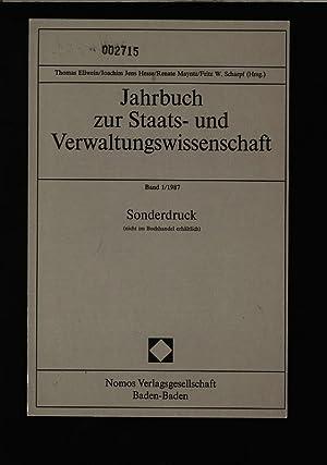Jahrbuch zur Staats- und Verwaltungswissenschaft, Band 1/1987,