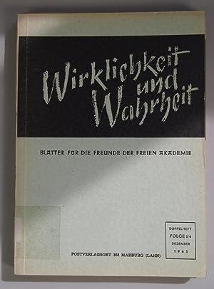 Psychotherapeutische Gewissensbildung bei Strafgefangenen, in: WIRKLICHKEIT UND WAHRHEIT. Blä...