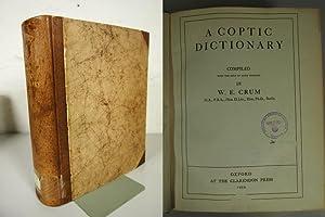 A Coptic Dictionary.: Crum, Walter E.,