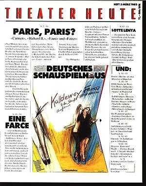 Paris, Paris? «Carmen», «Richard II.», «Faust» und