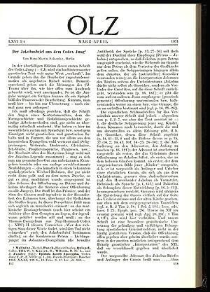 Der Jakobusbrief aus dem Codex Jung -