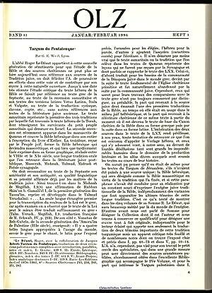 Targum du Pentateuque - Par G. E.