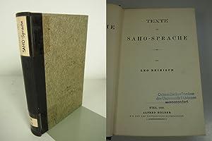 Die Saho-Sprache. Erster Band. Texte der Saho-Sprache.: Reinisch, Leo: