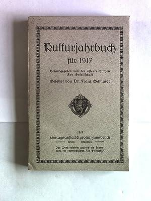 Kulturjahrbuch für 1917.: Schnürer, Franz [Hrsg.]