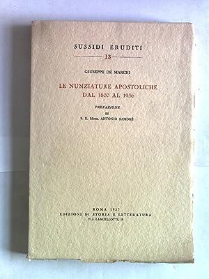 Le nunziature apostoliche dal 1800 al 1956.: Samore, Antonio und